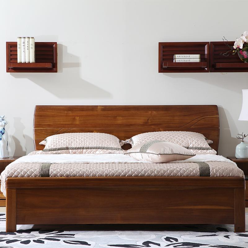 青岛一木 全实木床架子床 现代中式进口胡桃木1.5米1.8米双人床